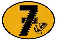 "BARRY SHEENE NUMBER 7 DIGITALLY CUTOUT VINYL STICKER. 5"" X 3.5"" OVERALL SIZE."