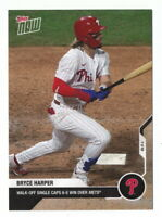 BRYCE HARPER 2020 TOPPS NOW #104 WALK-OFF SINGLE CAPS 6-5 WIN OVER METS