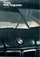 BMW Programmpreisliste v. 1985