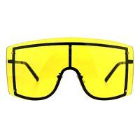 ab21e52f1a SUPER Oversized Shield Sunglasses Womens Fashion Cover Shades Color Lens
