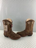 NWB ARIAT Heritage Roughstock Brown Leather Round Toe Western Boots Women's 11 C