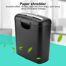 More details for home office heavy duty 11l strip cut 6 sheet a4 paper shredder credit blackcard