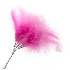 Fluffy Hot Pink Feathers x 6 Wedding Fascinator Bouquet Embellishment