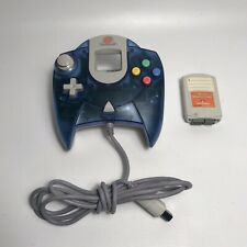 Official Sega Dreamcast CLEAR BLUE Controller TESTED WORKING HXT-7700