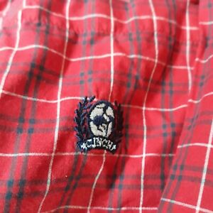 Cinch Long Sleeve Western Red Plaid Contrast Fabric Button Down Shirt Small