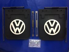 VW Bus Micro Camper Samba Type 1-2 Bay Window Black Mud Flaps with Bracket Set!