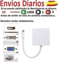 Mini Display port Thunderbolt a HDMI DVI VGA adaptador para Macbook Air Pro
