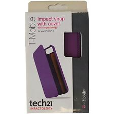 New NIB OEM Tech21 D30 Apple Iphone 5 5S Impact Snap Case With Cover PURPLE