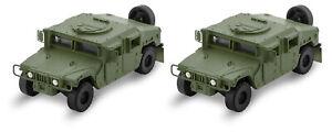 Micro-Trains MTL N-Scale Humvee Miliary Utility Vehicle (Olive Drab) 2-Pack