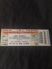 Jerry Seinfeld unused show ticket 2006