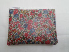 HANDMADE OILCLOTH MINI COIN PURSE - LIBERTY EMMA AND GEORGINA C FABRIC
