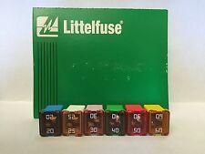 Set of 6: Genuine LittelFuse J Case JCASE 58V 20A 25A 30A 40A 50A 60A AMP
