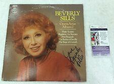 Beverly Sills Vintage Signed and Inscribed Album Cover w Disc JSA Cert.