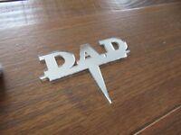 DAD cake topper mirrored  acrylic DAD celebration birthday