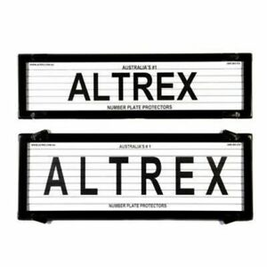 Number Plate Covers Slimline & Standard Black Lined One Pair 6QSL QLD ACT VIC SA