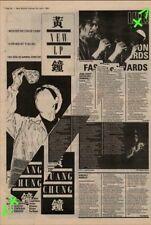 Huang Chung Tour Advert NME Cutting 1982
