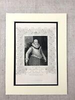 1854 Antik Gravierung Aufdruck George Carew Earl Von Totnes Irish History Irland