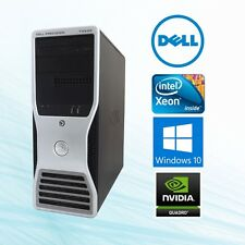 Dell Precision T5500 Workstation Xeon 2.66Ghz 12GB 128 GB SSD + 2TB  Win10
