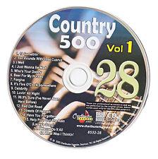 KARAOKE CHARTBUSTER CD+G COUNTRY 500 CB8532 VOL.1 DISC # 28