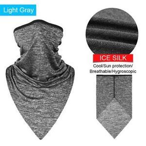 Cycling Half Face Mask Bike Ride Triangle Ice Fabric Neck Scarf Training Anti UV