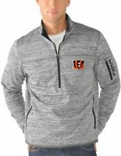 G-III Sports Cincinnati Bengals Men's Fast Pace Half Zip Jacket - Gray