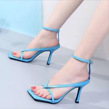 Women Sandals Clip Toe Flip Flop Kitten High Heels Summer Slippers Thongs Shoes