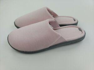 Dearfoam Women's Slippers Indoor/Outdoor LARGE Pink Gel Infused Size 9-10