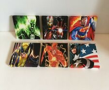 7th  Set Of These 6 Marvel & DC Super Hero Canvas Pictures