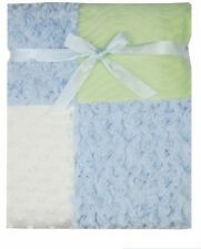 Baby Boys Multi-Fabric Blanket 30 x 30inches Blue/Green - Luvable Friends