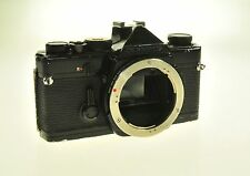 Black Olympus OM1 OM-1 Film Camera Body - Missing Covers -