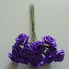 Diorröschen 12er Bund Satinröschen Rose Hochzeit violett