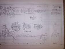USS BOISE CL47  / DE JULIO ship plans