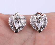 NEW STYLE TOPAZ .925 SOLID STERLING SILVER EARRINGS #21232