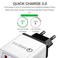 3 USB PORT QC 3.0 FAST CHARGE POWER ADAPTER TRAVEL WALL CHARGER FOR PHONE TABLET
