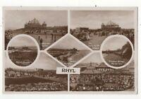 Rhyl 1925 Multiview RP Postcard Flintshire Wales 158c