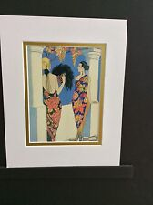 "Art Deco  ""The Style of Shawls"" matted art print by George's Barbier"