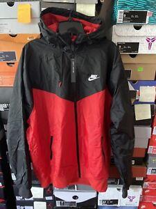 Nike LRG Wind Runner Jacket Hooded Full Zip Black Red Lightweight Men's