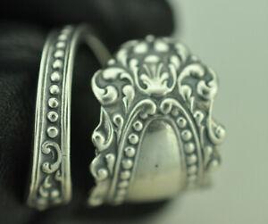 Beautiful 925 Sterling Silver Flower Mirrow Spoon Ring