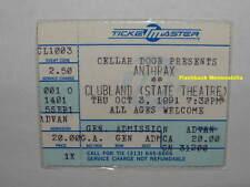 Anthrax / Primus Concert Ticket Stub 1991 Detroit Clubland Public Enemy Rare