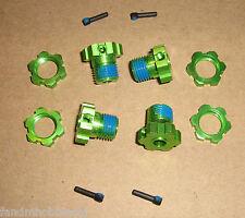 Traxxas Green 17mm 4 Wheel Hub & Nut Adapter 3.3 T-Maxx E- Revo E-Maxx & Summit