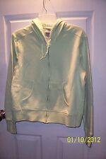 Champion L lite green zip up hoodie