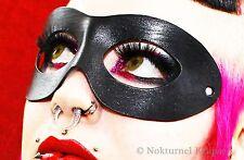 Harley Quinn Black Leather Mask Catwoman Halloween Superhero Masquerade Costume