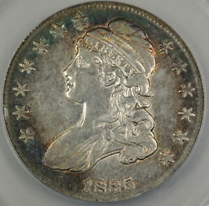 1835 Bust Silver Half Dollar, ANACS AU-50 Details, Cleaned Coin