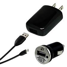 USB Data Cable + AC Wall Charger + Car Charger For Samsung Galaxy S3 SIII i9300