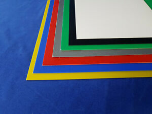 1mm HIPS Plastic Sheet Blue, Red, Yellow, Green, Grey, Black & White A5, A4 & A3