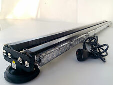 "AMBER EMERGENCY 47"" DOUBLE SIDE 288W LED LIGHT BAR - BEACON WARN TOWING TRAFFIC"