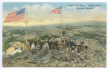 "Summit AK ""White Pass"" Under Two Flags Postcard"