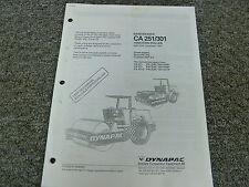 Dynapac CA251 CA301 CA251A Vibratory Roller Shop Service Maintenance Manual Book