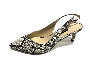 Nine West Sonia3 Black Snake Print High Heels, Size 7M