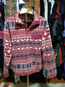 Patagonia Womens xl Synchilla Snap T Fleece Southwestern Aztec